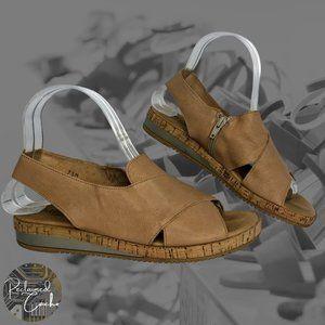 Sesto Meucci Beige Old West Sylke Sandals - Size 7